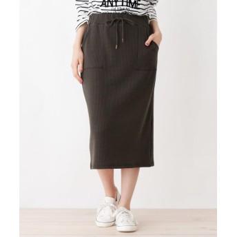 ひざ丈スカート - Cutie Blonde ワッフルナロースカート