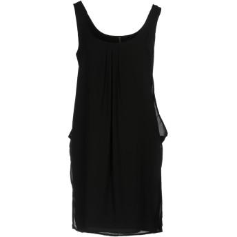 《セール開催中》MANILA GRACE レディース ミニワンピース&ドレス ブラック 44 ポリエステル 100%
