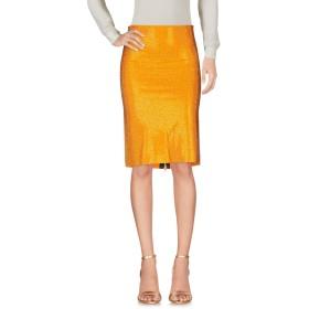 《セール開催中》FRANCESCA CONOCI レディース ひざ丈スカート オレンジ 1 レーヨン 100%