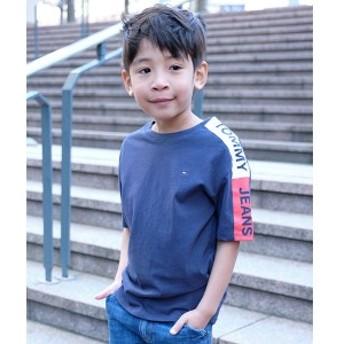 トミーヒルフィガー(キッズ)(TOMMY)/ロゴデザインスリーブTシャツ