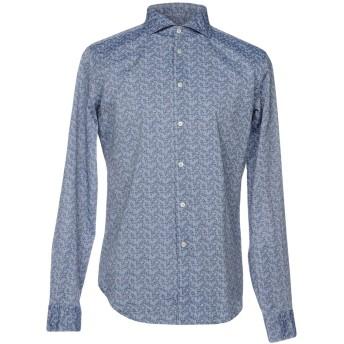 《セール開催中》WEST COAST メンズ シャツ ブルーグレー 37 コットン 100%