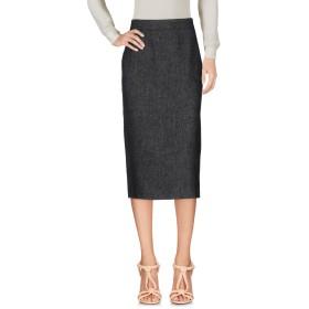 《セール開催中》DKNY レディース 7分丈スカート ブラック 4 麻 100%