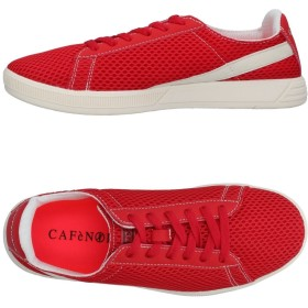 《期間限定セール開催中!》CAFNOIR メンズ スニーカー&テニスシューズ(ローカット) レッド 40 紡績繊維