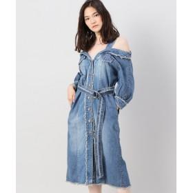 JOINT WORKS CHRISTIAN DADA / クリスチャンダダ Denim Shoulder Dress ブルー XS
