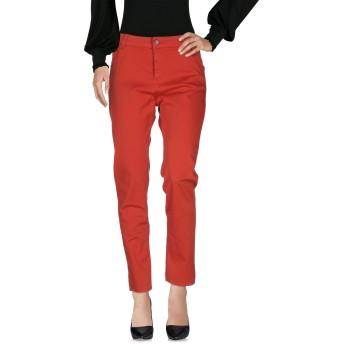 《セール開催中》TWINSET レディース パンツ 赤茶色 27 97% コットン 3% ポリウレタン