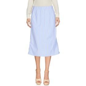 《セール開催中》MARNI レディース ひざ丈スカート スカイブルー 46 コットン 100%