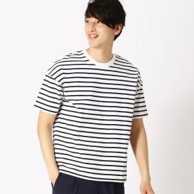 コムサイズム COMME CA ISM ボーダー Tシャツ (ホワイト)