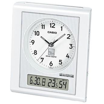 カシオ電波置時計keywordシルバー・ホワイトTQT-351KNJ-7DJR