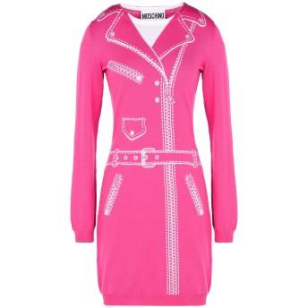 《セール開催中》MOSCHINO レディース ミニワンピース&ドレス フューシャ 38 バージンウール 100%