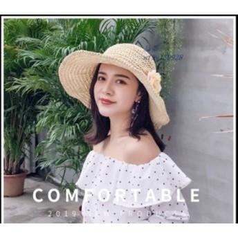 帽子 レディース つば広 女優帽 ナチュラルブリム 日よけ UVカット帽子 飛ばない 夏 ハット おしゃれ 春 紫外線 麦わら帽子 折りたたみ