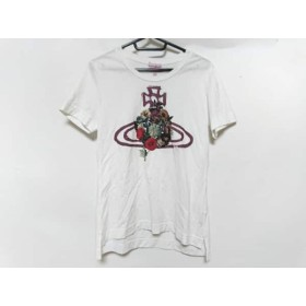 【中古】 ヴィヴィアンウエストウッドレッドレーベル 半袖Tシャツ サイズ3 L レディース 白 マルチ 花柄