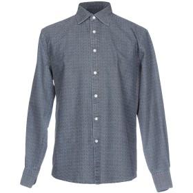 《期間限定セール開催中!》DEPERLU メンズ シャツ ブルーグレー S コットン 100%