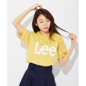 Lee ロゴプリントTシャツ レディース イエロー