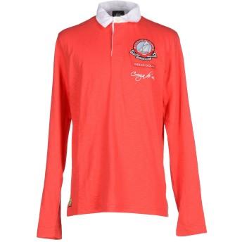 《期間限定セール開催中!》LEVIATHAN メンズ ポロシャツ レッド S コットン 100%