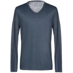 《期間限定 セール開催中》MAJESTIC FILATURES メンズ T シャツ ブルーグレー M 94% 麻 6% ポリウレタン