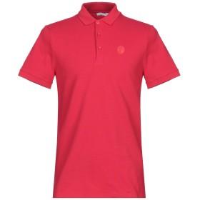 《期間限定セール開催中!》VERSACE COLLECTION メンズ ポロシャツ レッド S コットン 100%