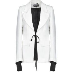 《9/20まで! 限定セール開催中》ANN DEMEULEMEESTER レディース テーラードジャケット ホワイト 40 麻 63% / コットン 37%
