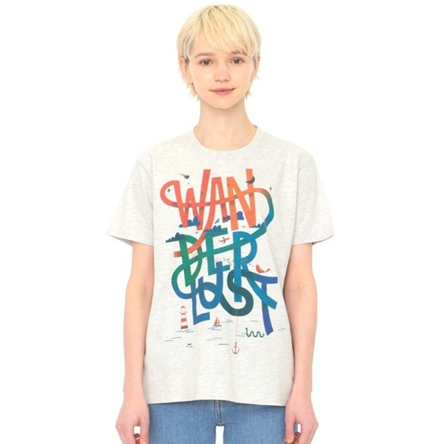 [マルイ] 【ユニセックス】アーティストTシャツ/ワンダーラスト(クリスウォートン)/グラニフ(graniph)