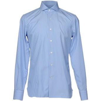 《9/20まで! 限定セール開催中》DI LUCA メンズ シャツ アジュールブルー 39 コットン 100%