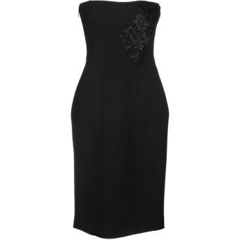 《セール開催中》VERSACE レディース ミニワンピース&ドレス ブラック 40 シルク 100%
