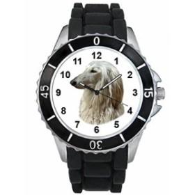 シリコーンバンドとのAfghane猟犬男女両用デザイン時計