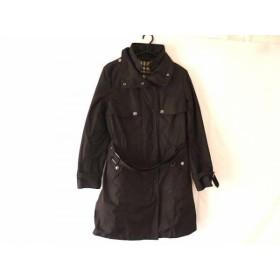【中古】 バーバリーロンドン Burberry LONDON コート サイズ40 L レディース 黒 冬物