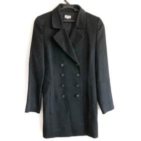 【中古】 フォクシー FOXEY コート サイズ38 M レディース ダークネイビー 肩パッド/冬物/カシミヤ