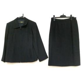 【中古】 レリアン Leilian スカートスーツ サイズ13 L レディース 黒 ジップアップ