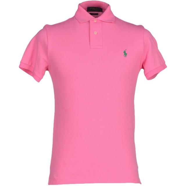 《期間限定セール開催中!》POLO RALPH LAUREN メンズ ポロシャツ ピンク S コットン 100%