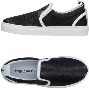 《期間限定セール開催中!》SHOP ★ ART レディース スニーカー&テニスシューズ(ローカット) ブラック 40 紡績繊維