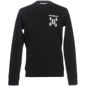 《期間限定 セール開催中》BIKKEMBERGS メンズ スウェットシャツ ブラック XXL コットン 100% / ポリウレタン