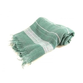 【中古】 アンテプリマ ストール(ショール) グリーン 白 シルバー ラメ 指定外繊維(レクセル) シルク