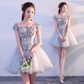 お呼ばれ ミニドレス演奏會 ウェディングドレス 結婚式 二次會ドレス ドレス ピアノ パーティードレス 発表會 上品さオフショル