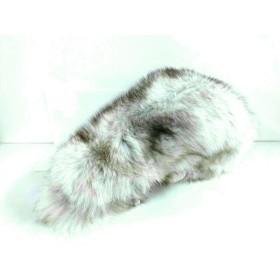 【中古】 サガフォックス SAGA FOX ストール(ショール) ライトグレー マルチ ティペット フォックス