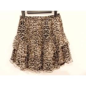 【中古】 ブルーガールブルマリン ミニスカート サイズ40 M レディース 美品 ベージュ ダークブラウン