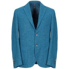 《期間限定セール開催中!》MONTEDORO メンズ テーラードジャケット アジュールブルー 48 ウール 60% / 指定外繊維(ヘンプ) 24% / ナイロン 16%