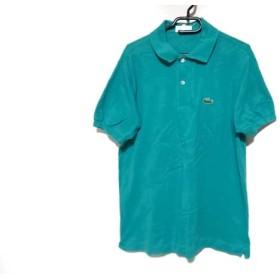 【中古】 ラコステ Lacoste 半袖ポロシャツ サイズ4 XL メンズ ライトグリーン CHEMISE