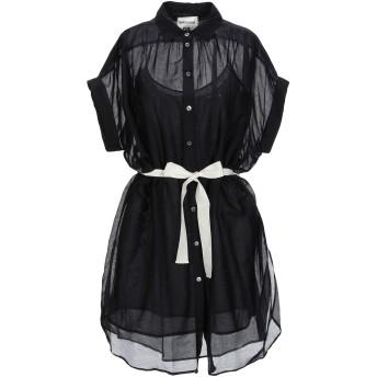 《期間限定 セール開催中》SEMICOUTURE レディース ミニワンピース&ドレス ブラック 42 コットン 69% / シルク 31%