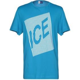 《期間限定 セール開催中》ICE PLAY メンズ T シャツ アジュールブルー S コットン 100%
