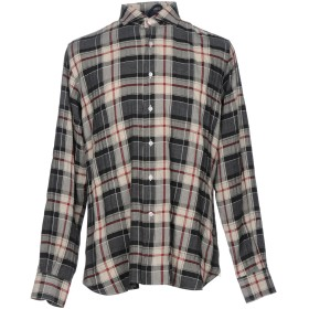 《期間限定セール開催中!》ORIAN メンズ シャツ グレー L コットン 100%
