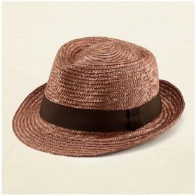 ノア 中折れ 麦わら帽子 ストローハット ブラウン 62cm [UK-H005-LL-BR]