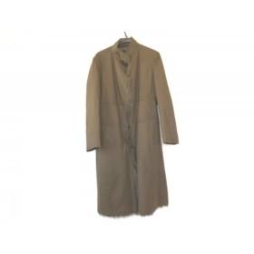 【中古】 ストラネス コート サイズ38 M レディース ダークブラウン 冬物/ファー/GABRIELE STREHLE
