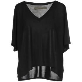 《期間限定セール中》ENZA COSTA レディース T シャツ ブラック XS レーヨン 90% / シルク 10%