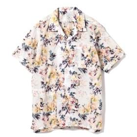 ENGINEERED GARMENTS / ボタニカルプリント キャンプシャツ メンズ カジュアルシャツ white S