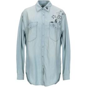 《セール開催中》LEE レディース デニムシャツ ブルー XS コットン 76% / 指定外繊維(ヘンプ) 24%