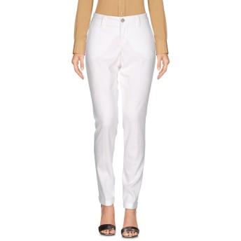 《セール開催中》RE-HASH レディース パンツ ホワイト 25 コットン 97% / ポリウレタン 3%