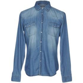 《期間限定 セール開催中》MICHAEL COAL メンズ デニムシャツ ブルー 37 コットン 100%