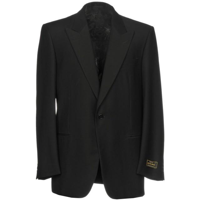 《期間限定セール開催中!》JASPER REED メンズ テーラードジャケット ブラック 48 ウール 100%