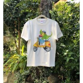 シリーズ3作目!バイク×インコのTシャツ(黄)