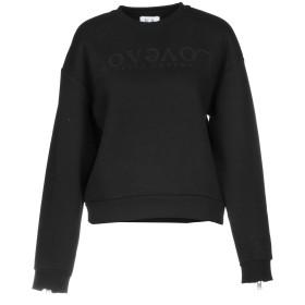 《期間限定 セール開催中》ZOE KARSSEN レディース スウェットシャツ ブラック M コットン 65% / ポリエステル 35%